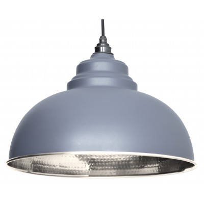 Dark Grey Hammered Nickel Harborne Pendant