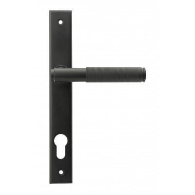 Matt Black Brompton Slimline Lever Espag. Lock Set