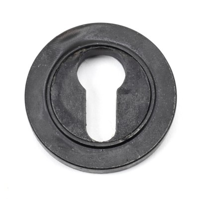 External Beeswax Round Euro Escutcheon (Plain Rose)