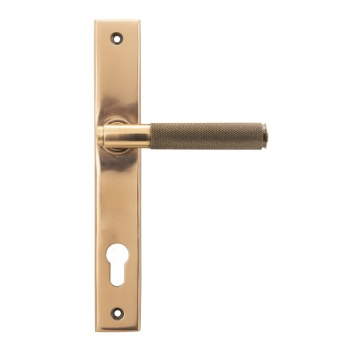 Polished Bronze Brompton Slimline Espag. Lock Set