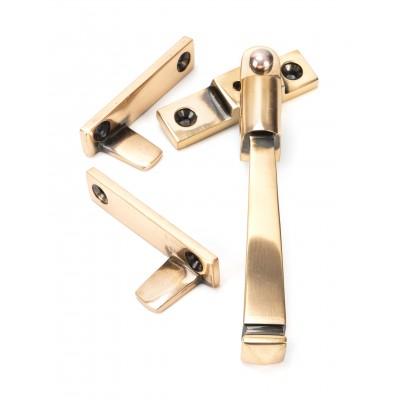 Polished Bronze Night-Vent Locking Avon Fastener