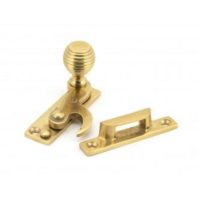 Polished Brass Beehive Sash Hook Fastener