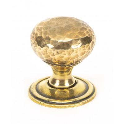 Aged Brass Hammered Mushroom Cabinet Knob 32mm