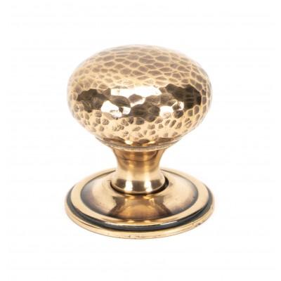 Polished Bronze Hammered Mushroom Cabinet Knob 38mm