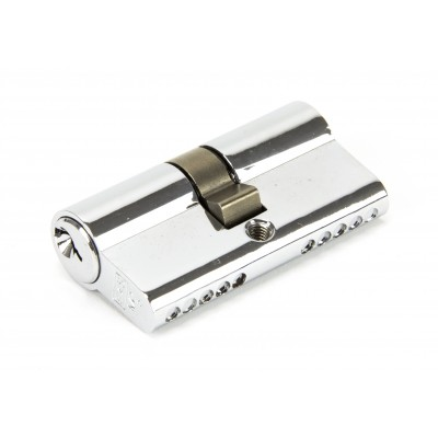 Polished Chrome 30/30 5pin Euro Cylinder KA