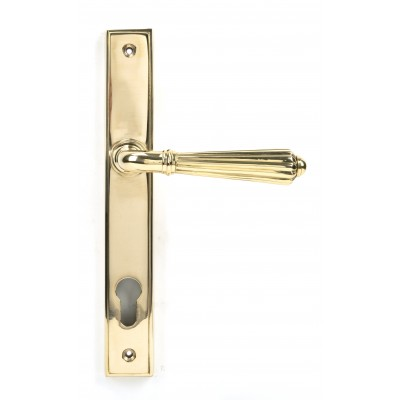 Polished Brass Hinton Slimline Lever Espag. Lock Set