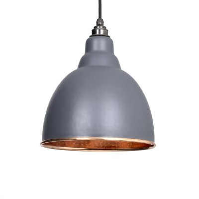 Dark Grey Hammered Copper Brindley Pendant