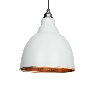 Light Grey Hammered Copper Brindley Pendant