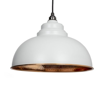 Light Grey Hammered Copper Harborne Pendant