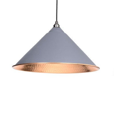 Dark Grey Hammered Copper Hockley Pendant