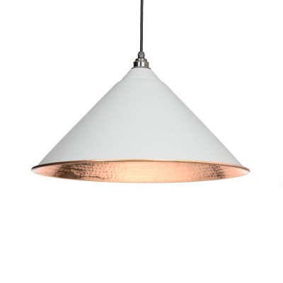 Light Grey Hammered Copper Hockley Pendant