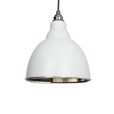 Light Grey & Smooth Nickel Brindley Pendant