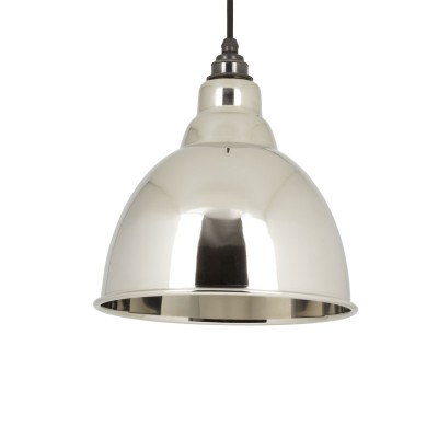 Smooth Nickel Interior Brindley Pendant