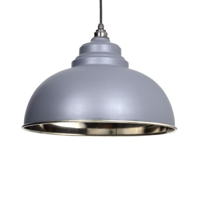 Dark Grey & Smooth Nickel Harborne Pendant