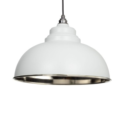 Light Grey & Smooth Nickel Harborne Pendant
