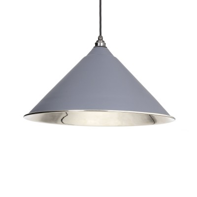 Dark Grey Smooth Nickel Hockley Pendant