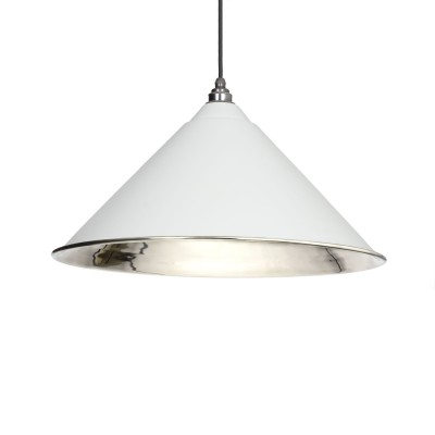 Light Grey Smooth Nickel Hockley Pendant