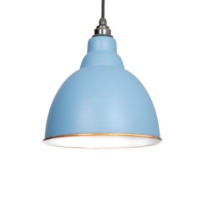 Pale Blue & White Interior Brindley Pendant