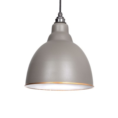 Warm Grey & White Interior Brindley Pendant