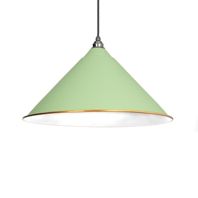 The Hockley Pendant in Sage Green