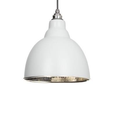 Light Grey Hammered Nickel Brindley Pendant