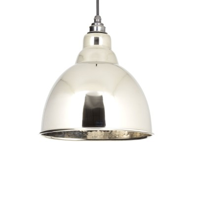 Hammered Nickel Brindley Pendant