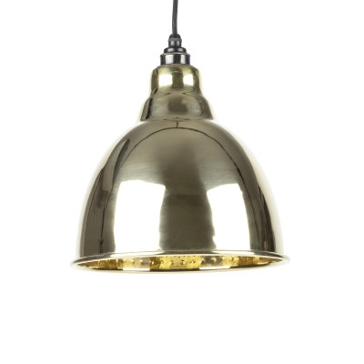 Hammered Brass Brindley Pendant