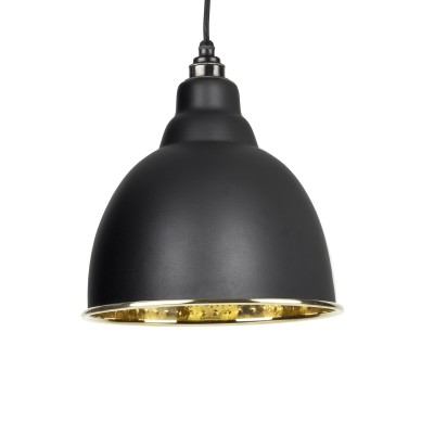 Black Hammered Brass Brindley Pendant