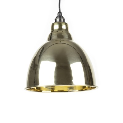 Smooth Brass Brindley Pendant