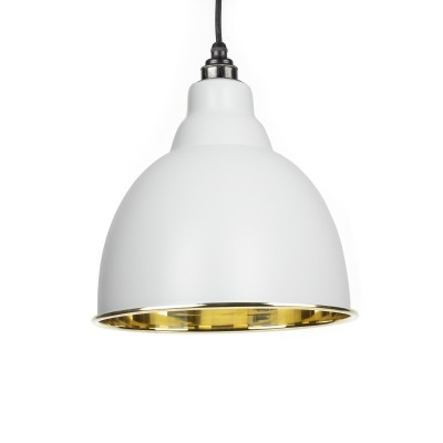 Light Grey Smooth Brass Brindley Pendant