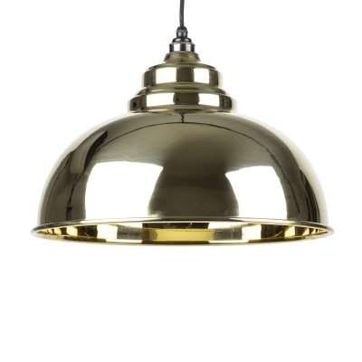 Smooth Brass Harborne Pendant