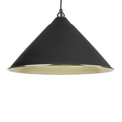 Black Hammered Brass Hockley Pendant