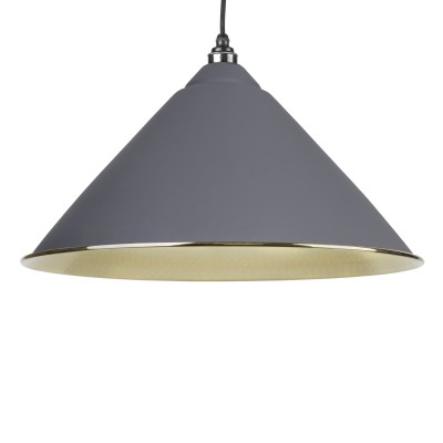 Dark Grey Hammered Brass Hockley Pendant
