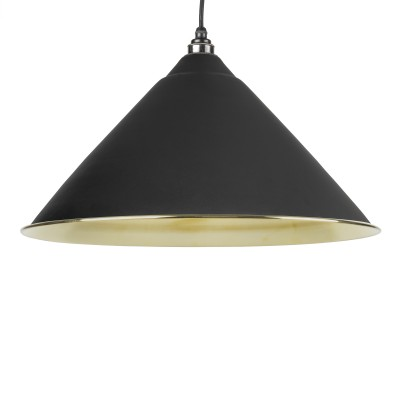Black Smooth Brass Hockley Pendant