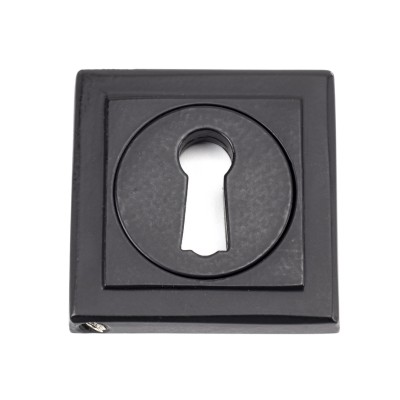 Matt Black Round Escutcheon (Square Rose)