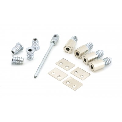 Polished Nickel Secure Stops (Pack of 4)