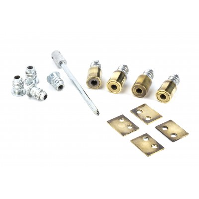 Aged Brass Secure Stops (Pack of 4)