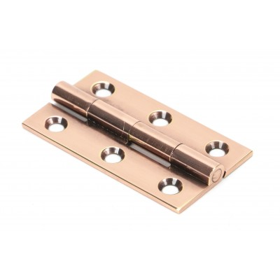 "Polished Bronze 2"" Butt Hinge (pair)"