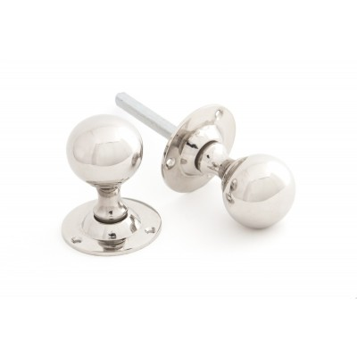 Polished Nickel Ball Mortice Knob Set