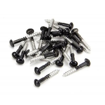 Black SS 3.5 x 25mm Round Head Screws (25)