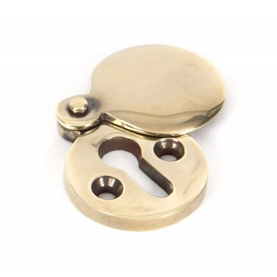 Aged Brass 30mm Round Escutcheon