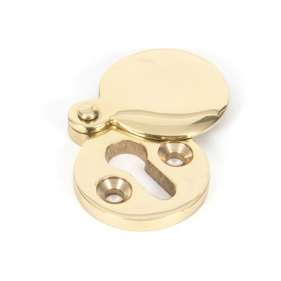 Polished Brass 30mm Round Escutcheon