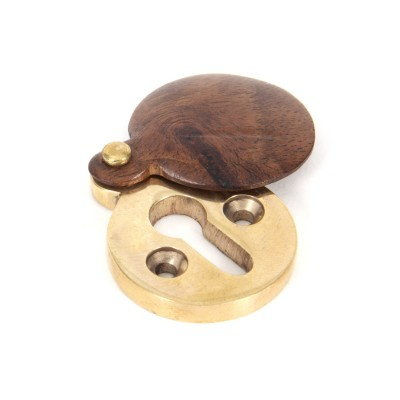 Rosewood 30mm Round Escutcheon