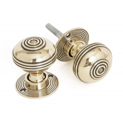 Aged Brass Prestbury Mortice/Rim Knob Set - 50mm