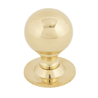 Polished Brass Ball Cabinet Knob 39mm