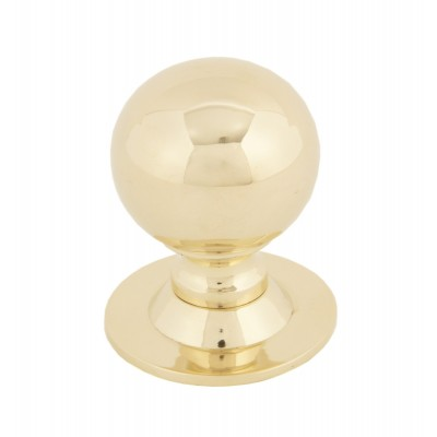 Polished Brass Ball Cabinet Knob 31mm