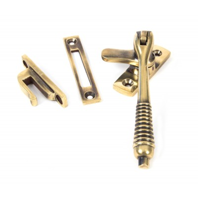 Aged Brass Locking Reeded Fastener