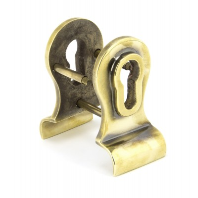 Aged Brass 50mm Euro Door Pull (Back to Back fixings)