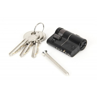 Black 35/10mm Euro Half Cylinder Lock - KD