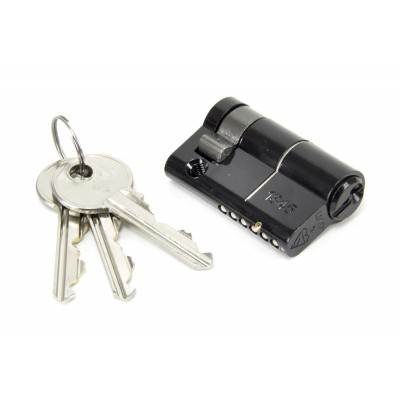 Black 40/10mm Euro Half Cylinder Lock - KD